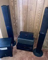 Yamaha steel receiver, Yamaha subwoofer, 2 onkyo speakers set left & right, & 2 in Fort Knox, Kentucky