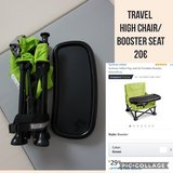 Travel booster seat/high chair in Ramstein, Germany