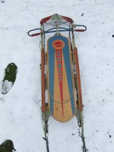 Comet Snow Sled Wood & Metal 1950's in Naperville, Illinois