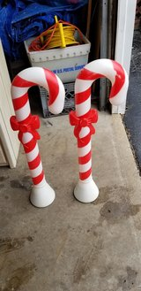 Blowmold candy canes in Naperville, Illinois