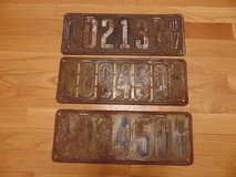 Old License Plates in Plainfield, Illinois