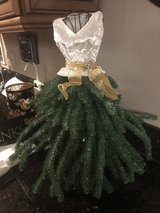 """Dress"" Christmas Tree with Skirt - 21"" Tall Tabletop Tree in Batavia, Illinois"