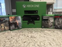 Microsoft Xbox One with Kinect and four Games in Fort Leonard Wood, Missouri