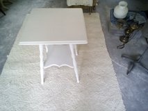 Antique white table in Kingwood, Texas