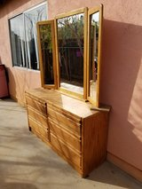 Oak Dresser with Mirror in Yucca Valley, California