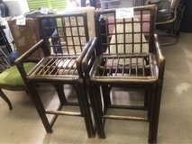 2 bamboo chairs in Alamogordo, New Mexico