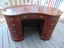 Antique Mahogany SLIGH Furniture, Kidney Shaped Desk in Oswego, Illinois