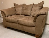 Brown Suede Couch in Kingwood, Texas