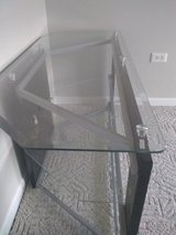 Glass-metal  TV stand in Peoria, Illinois