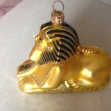 Sphinx 2 Polanise glass ornament/decoration, signed in Dothan, Alabama