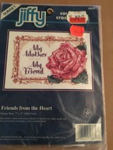 """Cross stitch """"friends from the heart"""" in Alamogordo, New Mexico"""