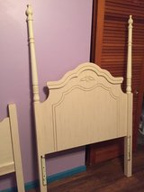 Girls white twin bed w/rails in Camp Lejeune, North Carolina