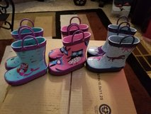 New w/tags toddler girl rainboots all size 5 in Fairfield, California