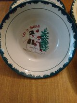 """LET IT SNOW"" stoneware dishes in Liberty, Texas"