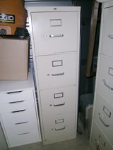 4 Drawer Cream Filing Cabinet in Kingwood, Texas