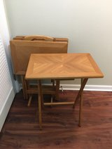 TV Tray Tables and Stand - Set of 4 in Naperville, Illinois