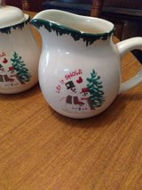 """LET IT SNOW"" SUGAR ÀND CREAMER DISH in Liberty, Texas"