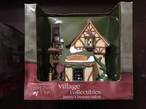 New Holiday Time Village Collectibles Porcelain Light House Jenny's Beauty Salon in Kingwood, Texas
