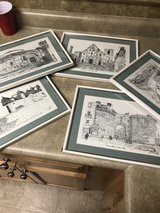 5 framed Italian drawings in Byron, Georgia