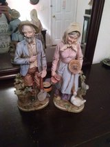 OLD FARMER MAN AND WOMEN FIGURINES in Liberty, Texas