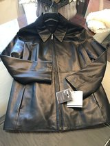 Ladies Black Leather Coat - New w/Tags in Houston, Texas