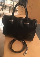 COACH SATCHEL W/ CROSSBODY BELT...SOFT BLACK LEATHER...GREAT CONDITION...PU PATCH/PANZER BASE in Stuttgart, GE