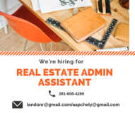 REAL ESTATE ADMIN ASSISTANT in Beaumont, Texas
