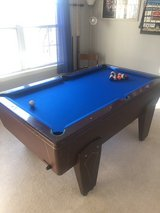 SIX FOOT ONE PIECE SLATE POOL TABLE in Plainfield, Illinois