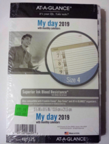 AT-A-GLANCE Day Runner 1-Page-Per-Day Planner Refill Size 4 No. 481-125 in Oswego, Illinois