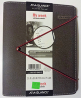 AT-A-GLANCE Faux Leather Fashion Starter Set Bungee Closure Desk Size Planner in Oswego, Illinois
