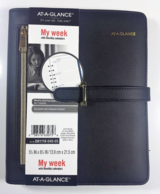 AT-A-GLANCE Faux Leather Fashion Starter Set Desk Size DR1118-040-05 Planner in Oswego, Illinois