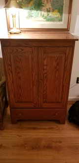 Storage Cabinet, solid oak. in Quantico, Virginia