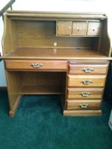 Very Nice. Very Heavy. Solid Oak Roll Top Desk - Bolingbrook in Conroe, Texas