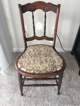 Vintage Chair with Floral Seat in Fairfax, Virginia
