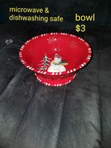 Christmas snowman bowl in Vacaville, California