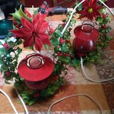 lighted wreath and red lights for mantle 1950s in Bolingbrook, Illinois