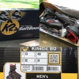"""*NEW* in box K2 Men's """"Kinetic 80"""" inline skates/rollerblades; MSRP $100 here for $50 obo in Wheaton, Illinois"""