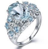 Genuine oval cut light blue CZ ring - size 6 in Fort Campbell, Kentucky