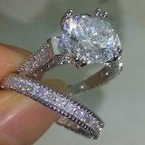 New White Gold-filled CZ Wedding Set Size 6 in Fort Campbell, Kentucky