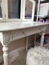 Darling Shabby Chic Vanity with removable Tri-Fold Mirror in Camp Pendleton, California