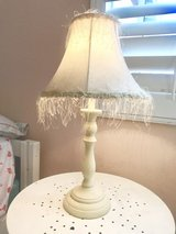 Shabby chic soft pink and cream table lamp in Camp Pendleton, California