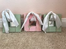 Cute light green and pink hand painted shabby chic mirrors set of 3 in Camp Pendleton, California