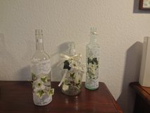 Lace and Flower Bottles in Ramstein, Germany