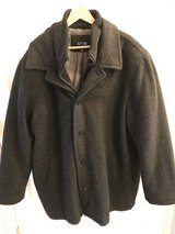 Wool Winter Coat Gray w/ Zippered liner XXL in Chicago, Illinois