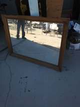Real wood frame mirror in 29 Palms, California