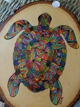 Pyrography Art, turtle! in Alamogordo, New Mexico