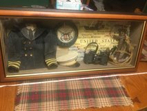 Shadow Box USN United States Navy Vintage Large 27 x 12 x 5 Cool Piece. Hooks on back for easy h... in Chicago, Illinois