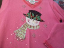 quacker factory pink snowman sweater size large in Alamogordo, New Mexico