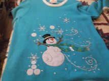 quaker factory turquoise snowman sweater size m in Alamogordo, New Mexico