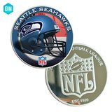 SEATTLE SEAHAWKS Silver Plated Challenge Coin *** NEW *** in Fort Lewis, Washington